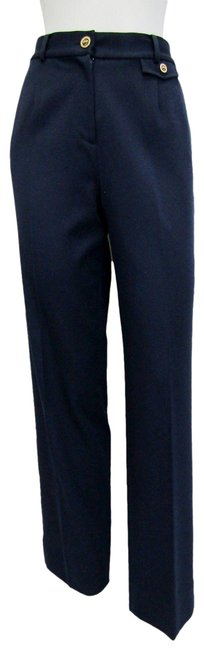 Item - Navy Sport Small Blue Logo Cotton Blend Pants Size 6 (S, 28)