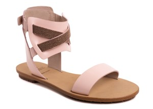 Brunello Cucinelli Leather Pink Sandals
