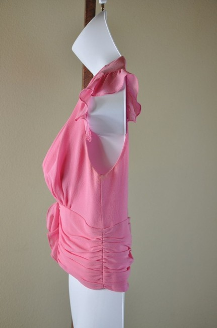 Tuleh Ruched Size S Top Pink