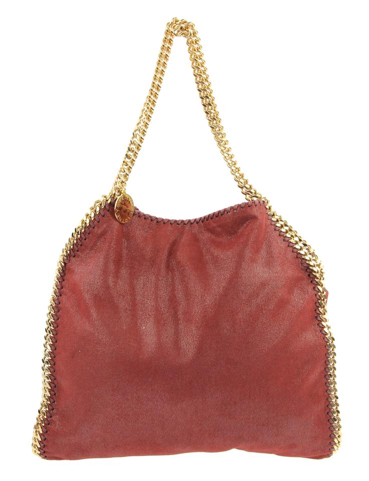 f3057a03afd Falabella Stella Red Faux Small Leather Deep McCartney Tote EEOR7rq1 ...