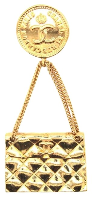 Item - Gold Plated Vintage Handbag Drop Pin Brooch Rare