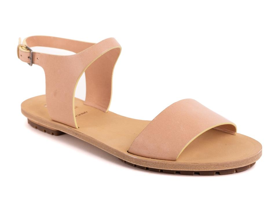 Brunello Blush Cucinelli Pink Natural Nude Blush Brunello Leather Sandals 3bbaad