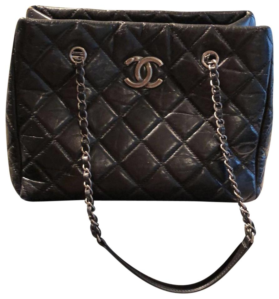 Chanel Timeless Large Shopping Black Lambskin Leather Tote - Tradesy 66094c261534c