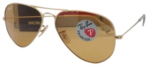 Ray-Ban Polarized Ray-Ban Sunglasses RB 3025 Large Metal 112/O6 Gold Aviator