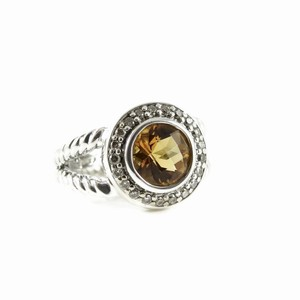 David Yurman David Yurman Sterling Silver Citrine Diamond Petite Cerise Ring
