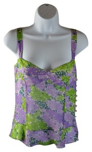 Tuleh Purple Flower Camisole Size 4 Small Top Floral