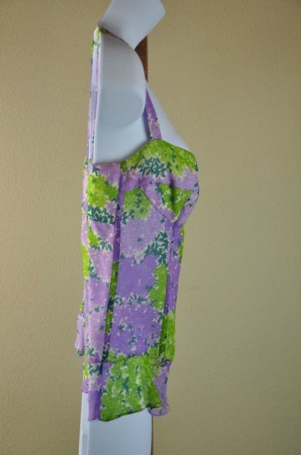 Tuleh Purple Camisole Size 4 Small Top Floral