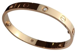 Cartier Cartier four diamond love bracelet(Rose gold size 17)
