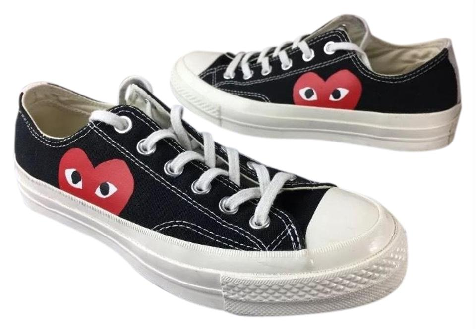 3b9001846eb6ac COMME des GARÇONS Sold Out Play X Converse Chuck Low Black Sneaker  Mens6 Women8 Sneakers. Size  US 6 ...