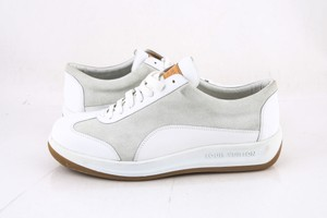 Louis Vuitton * White Calf Suede Sneakers Shoes