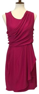 Ali Ro Wrap Silk Mini Grecian Greek Dress