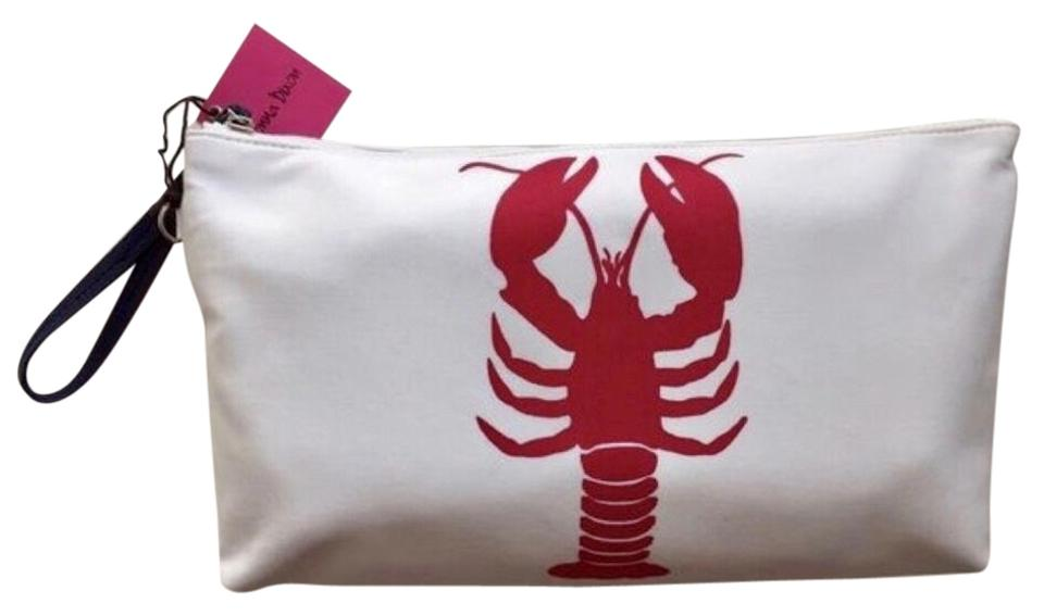 f58a1e65f Donna Dixon Lobster Print Nautical Preppy Wristlet in Red/white/navy Image  0 ...