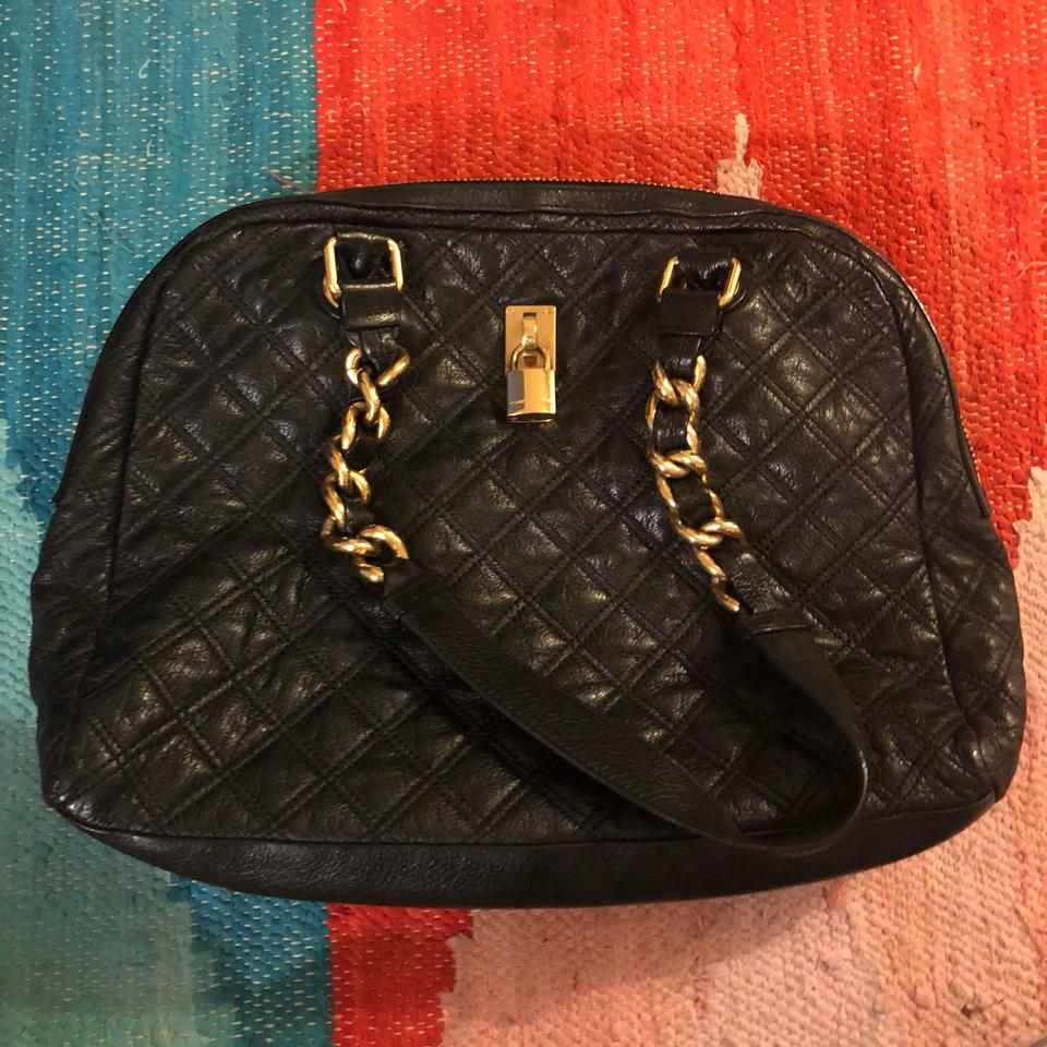 42fcdb954a9b3 Marc Jacobs Large Quilted Hobo with Gold Chain Detail Black Leather  Shoulder Bag - Tradesy