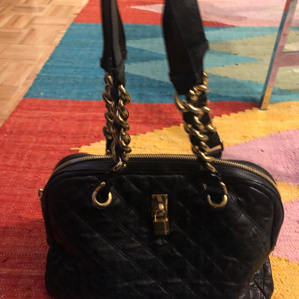 02764e32cb1a5 Marc Jacobs Large Quilted Hobo with Gold Chain Detail Black Leather ...
