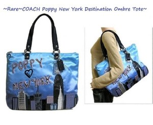 Coach New Purple Ombre Shoulder Rare Tote in Multiple shades of Blue/Multicolor/SV