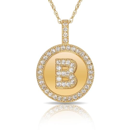 Preload https://img-static.tradesy.com/item/23539851/14kt-yellow-gold-plated-silver-initial-letter-b-micro-pave-cz-pendant-necklace-0-0-540-540.jpg