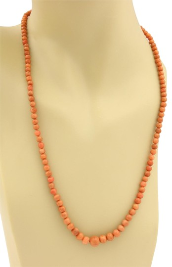 Preload https://img-static.tradesy.com/item/23539909/vintage-14k-ygold-graduated-beaded-coral-carved-rose-clasp-necklace-0-1-540-540.jpg