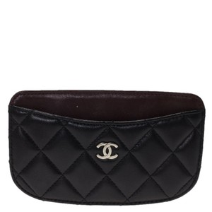 Chanel Black Quilted Leather CC Classic Card Holder