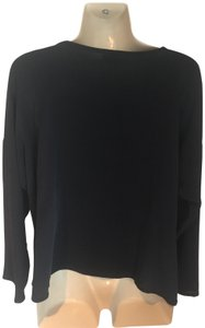 Zoran Silk Long Sleeve Top black