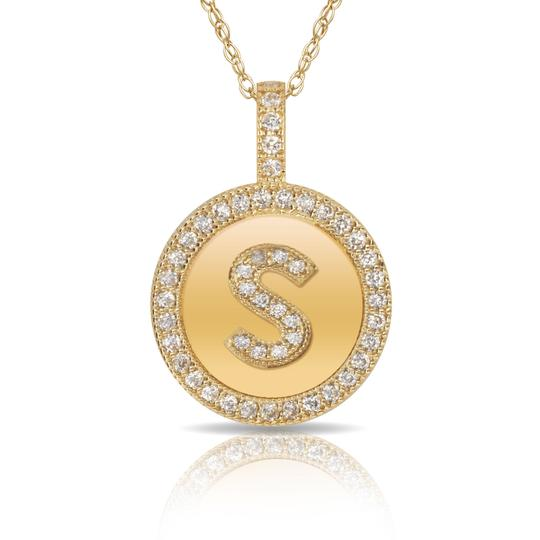 Preload https://img-static.tradesy.com/item/23540028/14kt-yellow-gold-plated-silver-initial-letter-s-micro-pave-cz-pendant-necklace-0-0-540-540.jpg