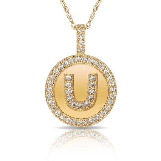 Preload https://img-static.tradesy.com/item/23540035/14kt-yellow-gold-plated-silver-initial-letter-u-micro-pave-cz-pendant-necklace-0-0-540-540.jpg