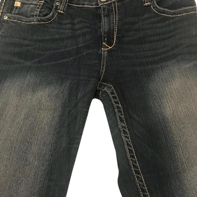 Item - Super Comfy Due To Stretchy Material. Mostly Dark Wash with A More Distressed Wash On The Thigh Are Of The Maddie Boot Cut Jeans Size 34 (12, L)