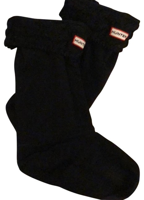 Item - Black Tall Cable Knit Cuff Welly Boot Socks