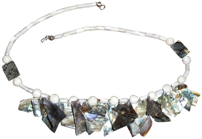 """Of Pearl and Abalone 23"""" Necklace Of Pearl and Abalone 23"""" Necklace Image 1"""