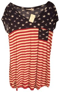 Modern Vintage T Shirt Red, white & blue