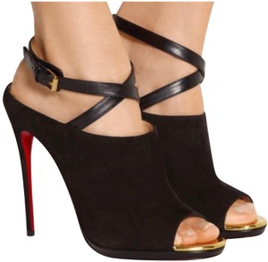 Christian Louboutin Black Gold Red Formal