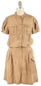 Marc Jacobs Short Sleeve Silky Button-up Oversized Dress