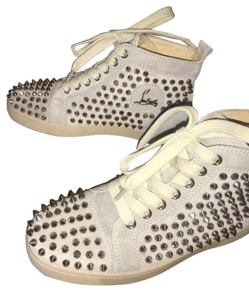 finest selection 8ce13 f8d7c Christian Louboutin Off White Studded Hightop Sneakers Size EU 36.5  (Approx. US 6.5) Regular (M, B) 42% off retail
