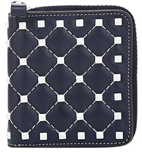 8835e03a811 Valentino Rockstud Free Spike Leather Small Zip Around French Compact Wallet