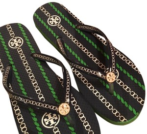 d1c51b9042ad Added to Shopping Bag. Tory Burch navy and green Sandals. Tory Burch Navy  and Green Thin Flip Flop Sandals Size US 7.5 Regular ...