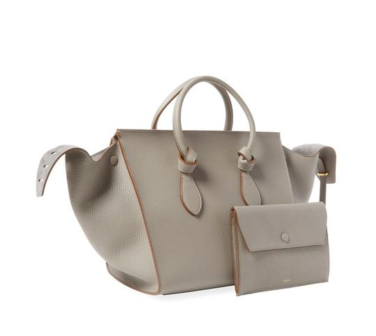 Céline Leather Tote in Grey Image 0