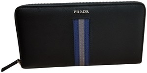Prada Prada Saffiano Leather Intarsia Continental Wallet