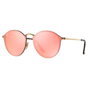 Ray-Ban Ray-Ban Pink Mirror Blaze Round Sunglasses 59mm RB3574N