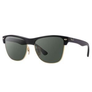 Ray-Ban Ray-Ban Clubmaster Oversized Sunglasses Black/ Green 57mm RB4175