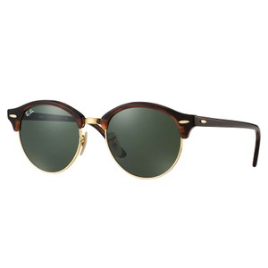 Ray-Ban Ray-Ban Clubround Classic Sunglasses Tortoise/ Green 51mm RB4246