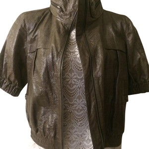 Generra Generra grinly Lambskin Cropped leather jacket with hidden hoodie