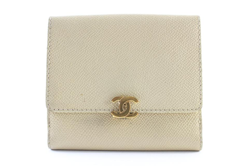 d0775b180eb8 Chanel Cc Clasp Wallet 22cr0611 Beige Caviar Leather Clutch - Tradesy
