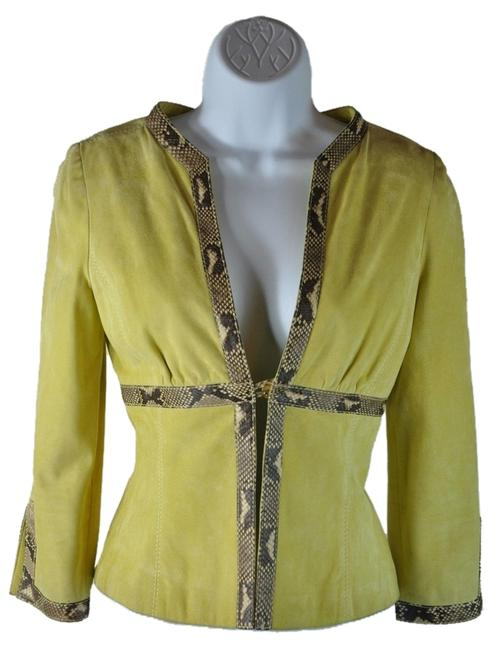 Preload https://item1.tradesy.com/images/valentino-lime-green-new-with-tags-suede-python-snakeskin-spring-jacket-size-6-s-2354125-0-0.jpg?width=400&height=650
