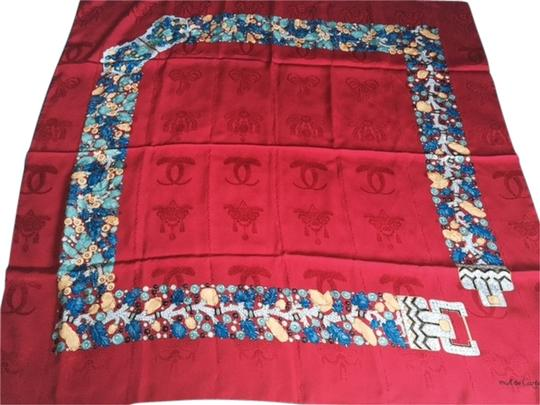 Cartier Must de Cartier Silk Scarf with Panthere detail, and floral pattern.