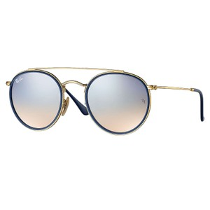 Ray-Ban Ray-Ban Round Double Bridge Sunglasses Gold/ Silver 51mm RB3647N
