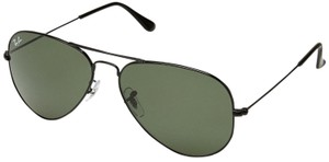 Ray-Ban Ray-Ban Unisex Aviator Black Metal Green G-15 Lens Sunglasses RB 3025