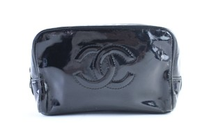 Chanel Trousse Toilette Cosmetic Make Up Clutch Black Messenger Bag
