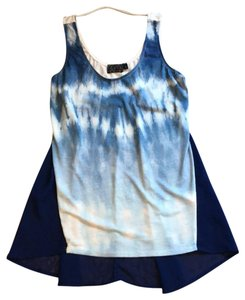 CM COUTURE Top Blue and White