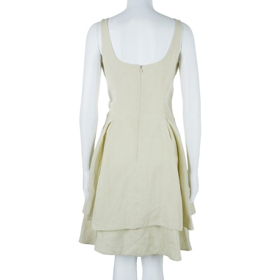 a30cacba1ce Giorgio Armani short dress White Linen Cotton on Tradesy Image 7. 12345678