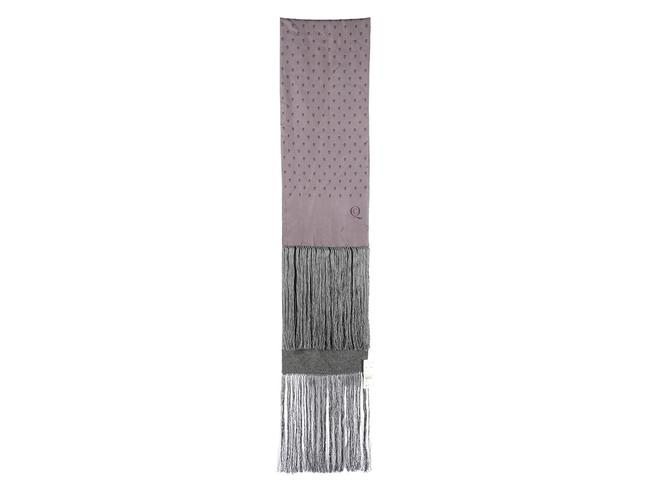 Item - Gray Purple Silk and Cashmere Skull Scarf/Wrap