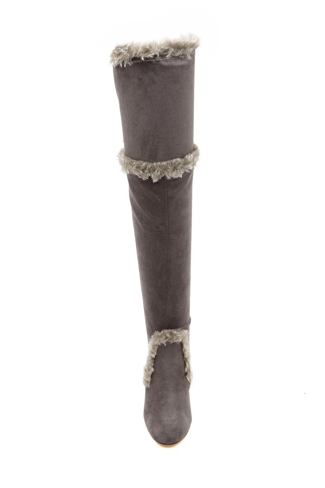 e2a3e8b3746e Charles by Charles David Slate-mf Women s Odom Faux Fur Trimmed Over-the-knee  Boots Booties